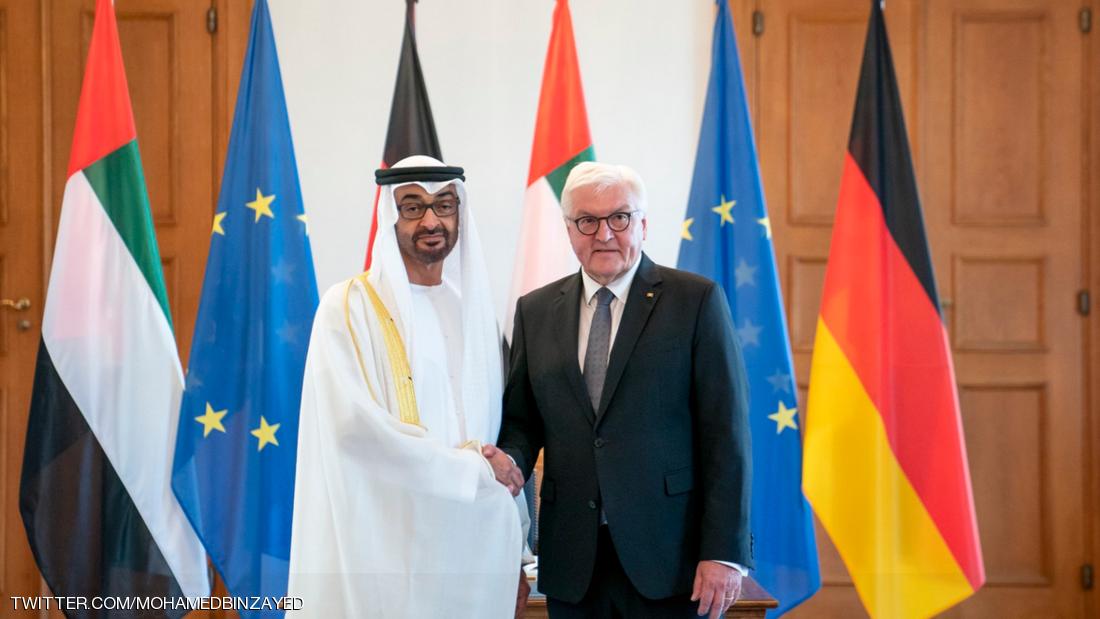 الرئيس الألماني يستقبل ولي عهد أبوظبي