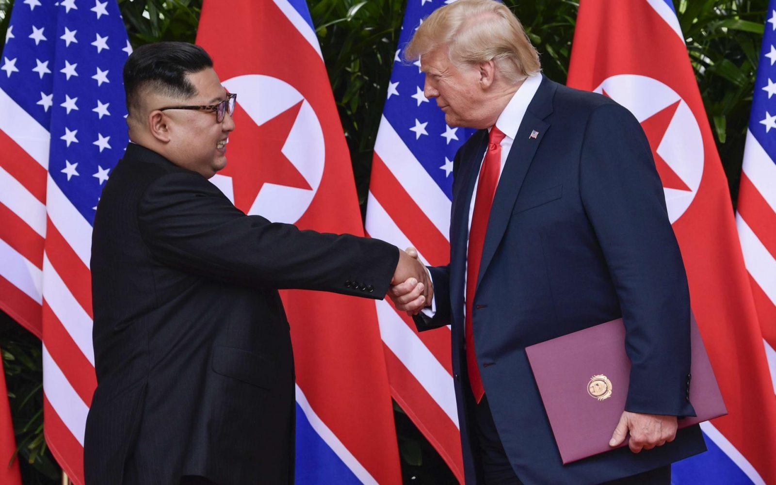 ترامب وزعيم كوريا الشمالية